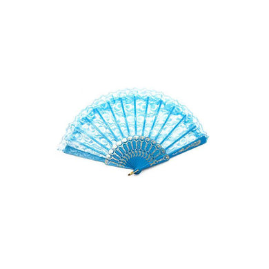 Light Blue Lace Fan - The Base Warehouse