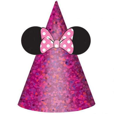 8 Pack Minnie Mouse Paper Cone Hats - The Base Warehouse