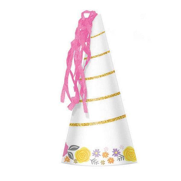 8 Pack Magical Unicorn Horn Party Hat