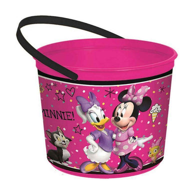Minnie Mouse Happy Helpers Plastic Favor Container - 12cm x 16cm - The Base Warehouse