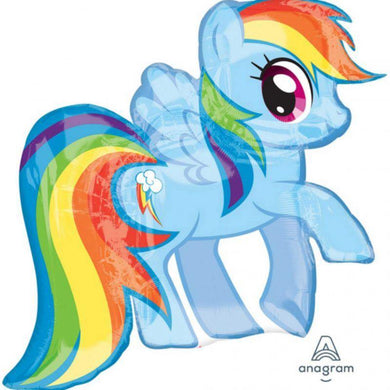My Little Pony Rainbow Dash Foil Balloon - 71cm x 68cm - The Base Warehouse