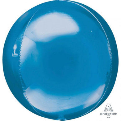 Orbz Blue Foil Balloon - 38cm x 40cm - The Base Warehouse