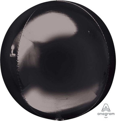 Orbz Black Foil Balloon - The Base Warehouse