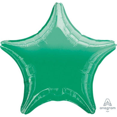 Metallic Green Star Foil Balloon - 45cm - The Base Warehouse