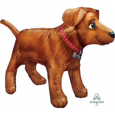 UltraShape Golden Dog Foil Balloon - 91cm x 60cm - The Base Warehouse