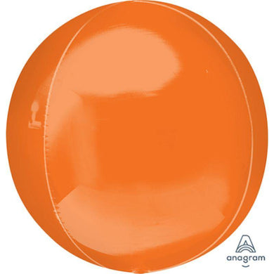 Orbz Orange Foil Balloon - 38cm x 40cm - The Base Warehouse