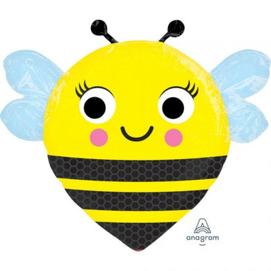 Happy Buzzn Bee Foil Balloon - 45cm - The Base Warehouse