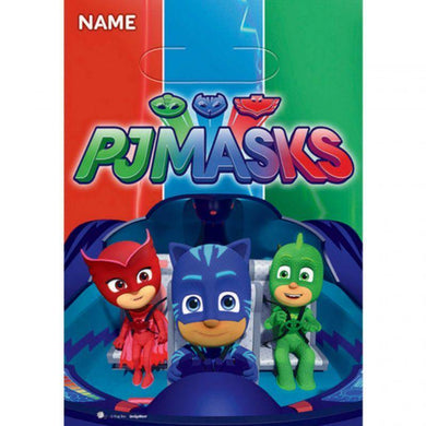 8 Pack PJ Masks Folded Loot Bags - 23cm - The Base Warehouse