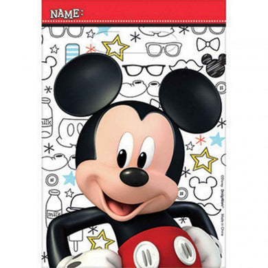 8 Pack Mickey On The Go Folded Loot Bags - 23cm - The Base Warehouse