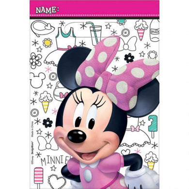 8 Pack Minnie Mouse Folded Loot Bags - 23cm - The Base Warehouse