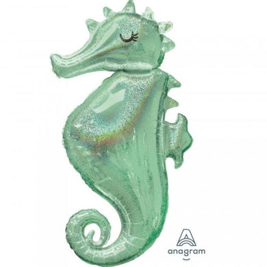 Mermaid Wished Seahorse Foil Balloon - 50cm x 96cm - The Base Warehouse