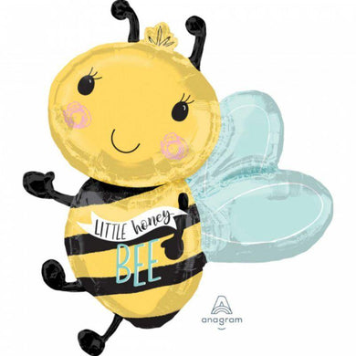 SuperShape What Will It Bee Little Honey Foil Balloon - 63cm x 76cm - The Base Warehouse