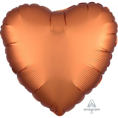 Satin Luxe Amber Heart Foil Balloon - 45cm - The Base Warehouse