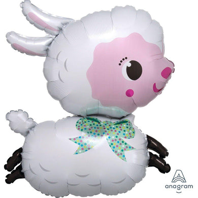 SuperShape Lamby Foil Balloon - 63cm x 71cm - The Base Warehouse