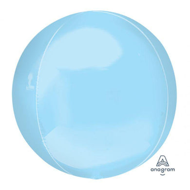 Orbz Pastel Blue Foil Balloon - 38cm x 40cm - The Base Warehouse