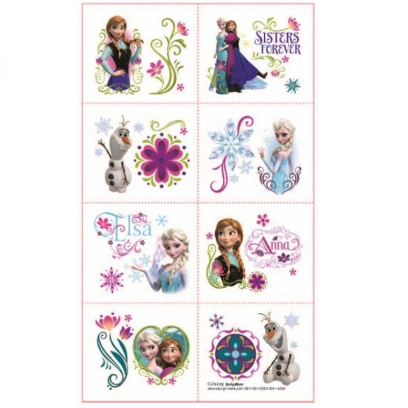 16 Pack Frozen Tattoo - 5cm x 4cm