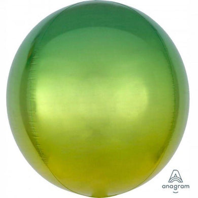 Orbz Ombre Yellow & Green Foil Balloon - 38cm x 40cm - The Base Warehouse