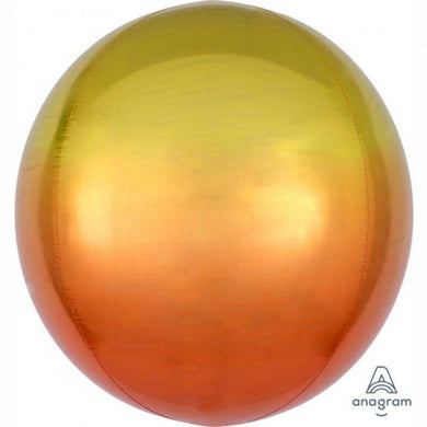 Orbz Ombre Yellow & Orange Foil Balloon - 38cm x 40cm - The Base Warehouse