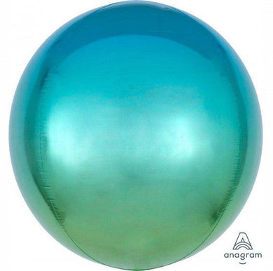 Orbz Ombre Blue & Green Foil Balloon - 38cm x 40cm - The Base Warehouse
