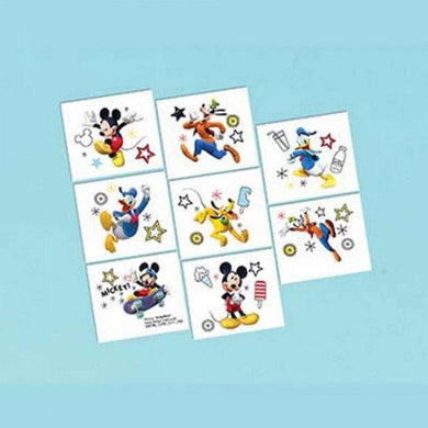 8 Pack Mickey on the Go Tattoo - 5cm x 4cm - The Base Warehouse