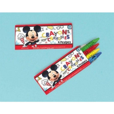 12 Pack Mickey on the Go Mini Crayons - The Base Warehouse