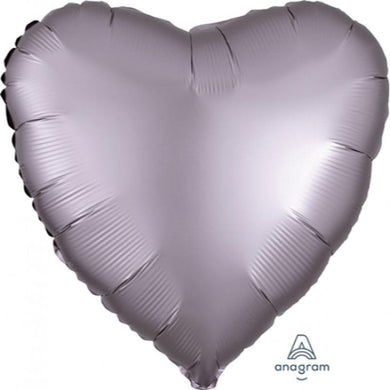 Satin Luxe Greige Heart Foil Balloon - 45cm - The Base Warehouse