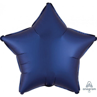 Satin Luxe Navy Star Foil Balloon - 45cm - The Base Warehouse