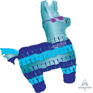 Blue Battle Royal Llama Foil Balloon - 73cm x 83cm - The Base Warehouse