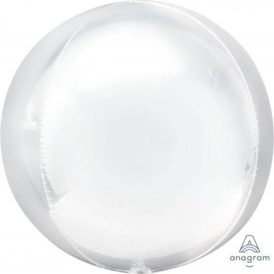 Orbz White Foil Balloon - 38cm x 40cm - The Base Warehouse
