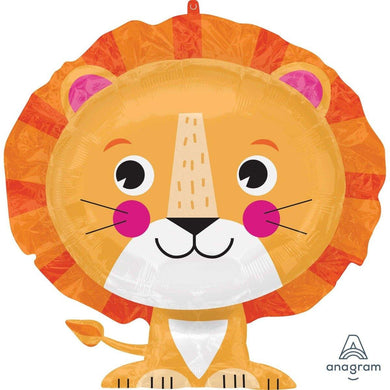 SuperShape Lion Foil Balloon - 60cm x 53cm - The Base Warehouse