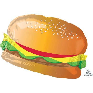 SuperShape Hamburger with Bun Foil Balloon - 66cm x 45cm - The Base Warehouse