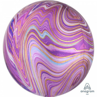 Ombre Purple Marblez Orbz Foil Balloon - 40cm - The Base Warehouse