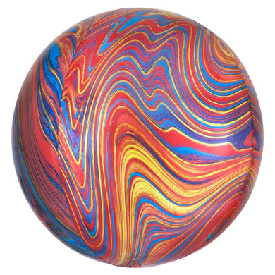 Orbz Colourful Marblez Foil Balloon - 38cm x 40cm - The Base Warehouse