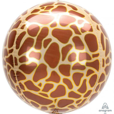 Orbz Giraffe Print Foil Balloon - 40cm - The Base Warehouse