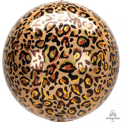Orbz Leopard Print Foil Balloon - 40cm - The Base Warehouse