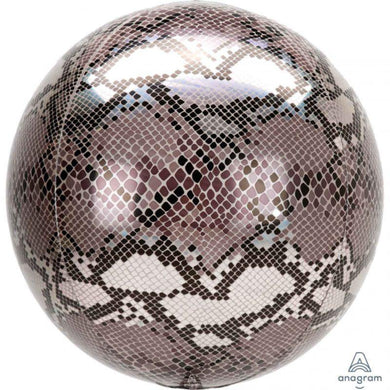 Orbz Snake Skin Print Foil Balloon - 40cm - The Base Warehouse