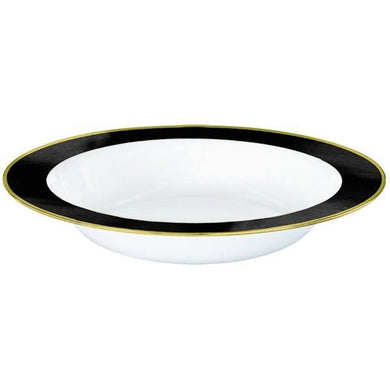 10 Pack Jet Black Border Premium Bowls - The Base Warehouse