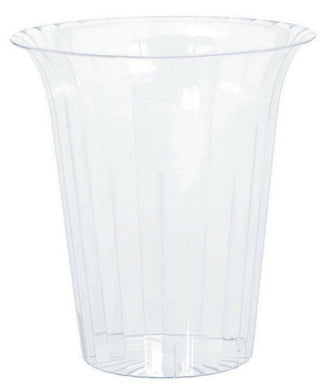 Small Clear Plastic Flared Cylinder - The Base Warehouse