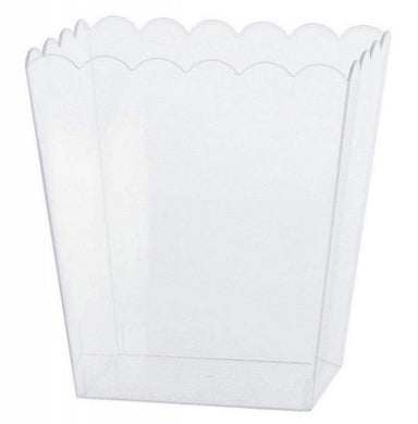 Small Clear Plastic Scalloped Container - The Base Warehouse