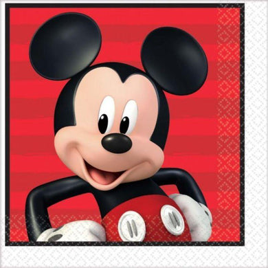 16 Pack Mickey on the Go Lunch Napkins - 33cm - The Base Warehouse