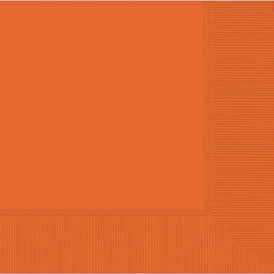 20 Pack Orange Lunch Napkins - 33cm - The Base Warehouse