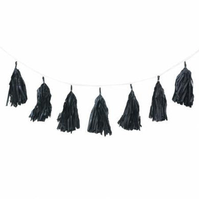 12 Piece Black Tassel Garland - 3m - The Base Warehouse