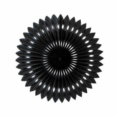 Black Hanging Fan Decoration - 24cm - The Base Warehouse