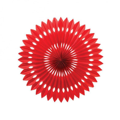 Apple Red Hanging Fan Decoration - 24cm - The Base Warehouse