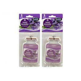 AutoBright 3 Pack Sweet Lavender Hanging Air Freshener - The Base Warehouse
