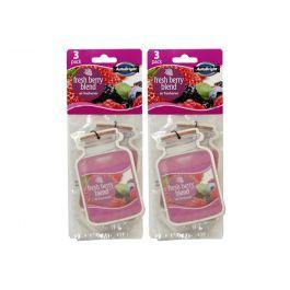 AutoBright 3 Pack Fresh Berry Blend Hanging Air Freshener - The Base Warehouse