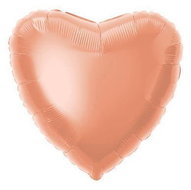 Rose Gold Heart Foil Balloon - 45cm - The Base Warehouse