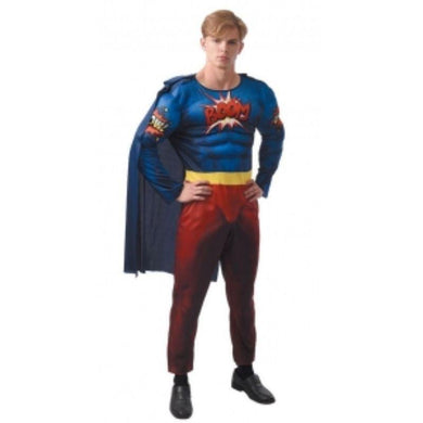 Mens Muscled Super Hero Costume - The Base Warehouse