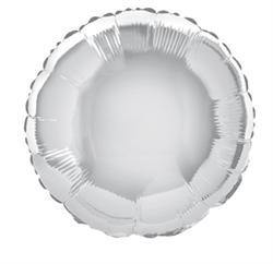Silver Round Foil Balloon - 45cm - The Base Warehouse