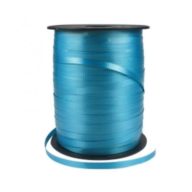 Turquoise Crimped Ribbon Spool - 5mm x 450m - The Base Warehouse